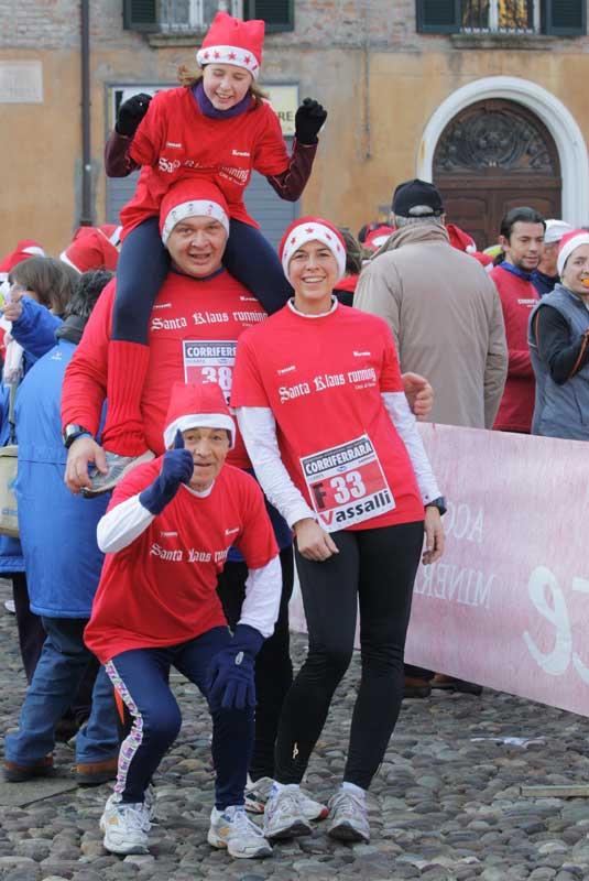 Santa Klaus Running Ferrara