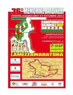 36° 'Memorial Mario Cardinelli', valido come campionato nazionale individuale e di società Uisp